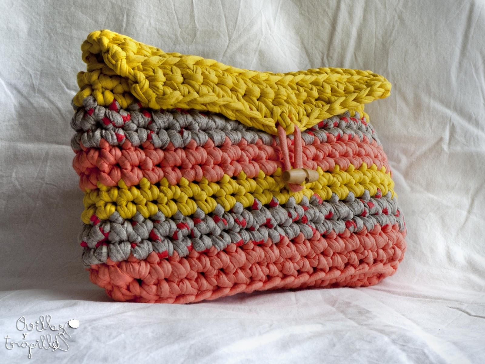 Como hacer 8 puntos basicos de crochet trapillo curso de - Puntos crochet trapillo ...