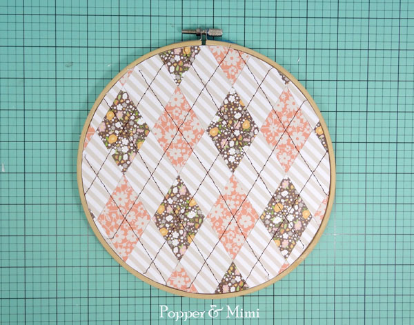 Peaches & Cream Embroidery Hoop Decor | popperandmimi.com