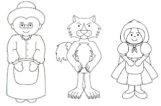 a desenhar Little Red Riding Hood brothers grimm colorir