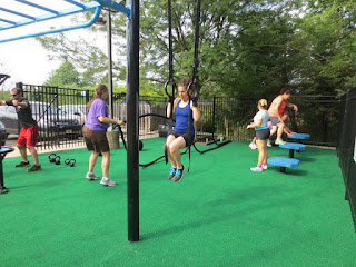 outdoor fitness workout area move strong JCC