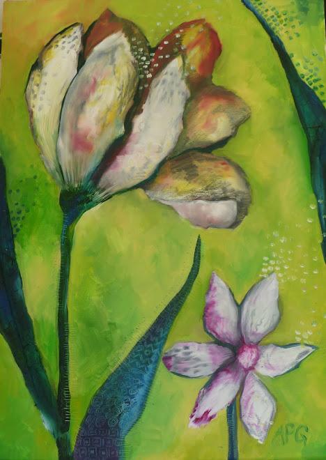 Flowers 3 - 65 x 45 cm