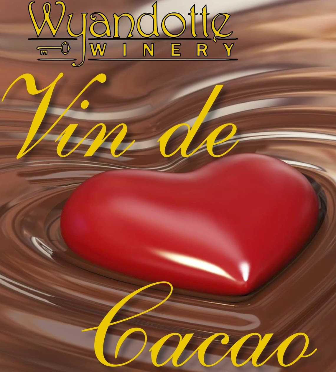 Vin de Cacao Chocolate Red Wine label