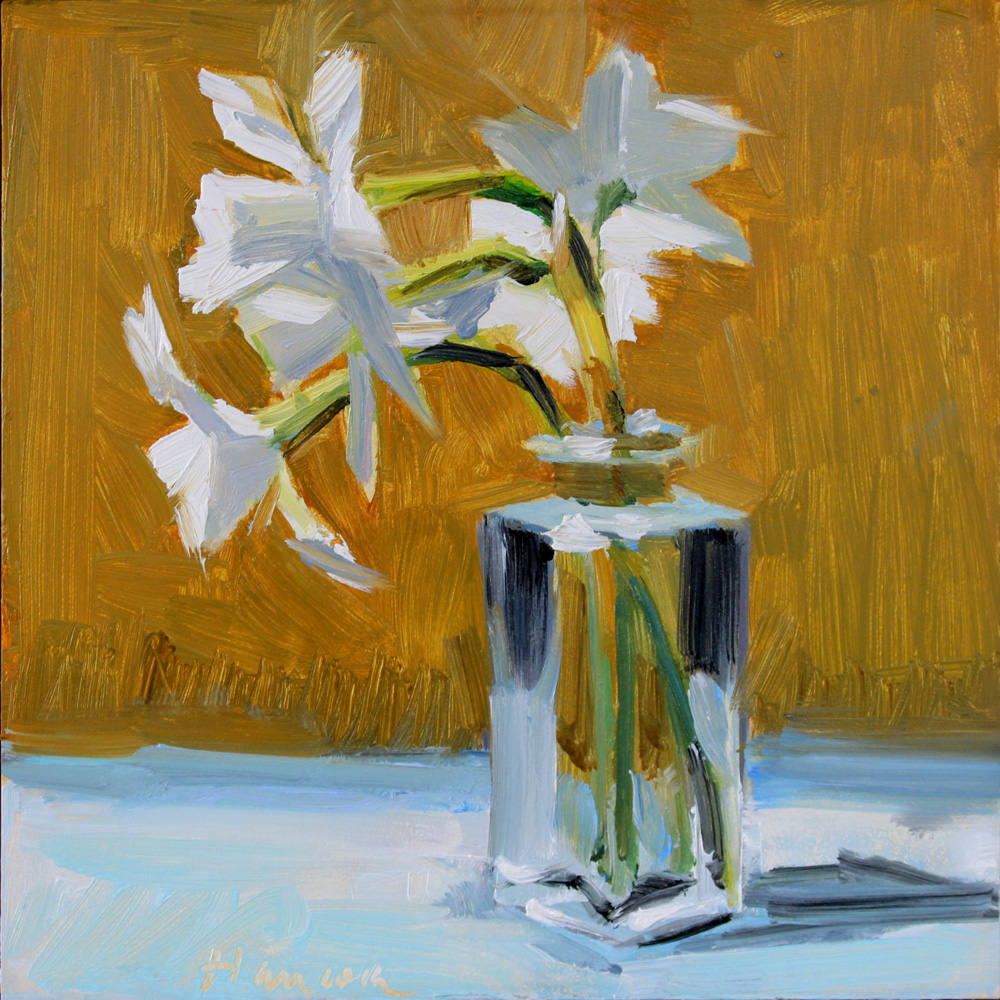Gretchen hancocks paintings march 2015 more spring flowers these jonquils have small clusters of flowers on single stems picked from my garden i like the brushwork in the vase reviewsmspy