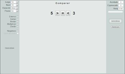 Números: menor, mayor o igual, Matemáticas