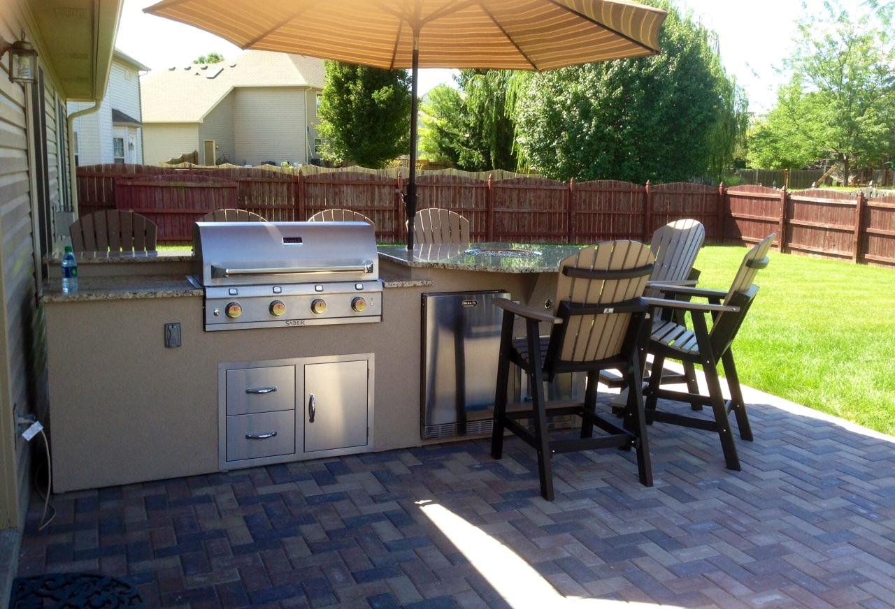 Venetian Gold Granite Kitchen Outdoor Living New Venetian Gold Granite Kitchen With A Firepit