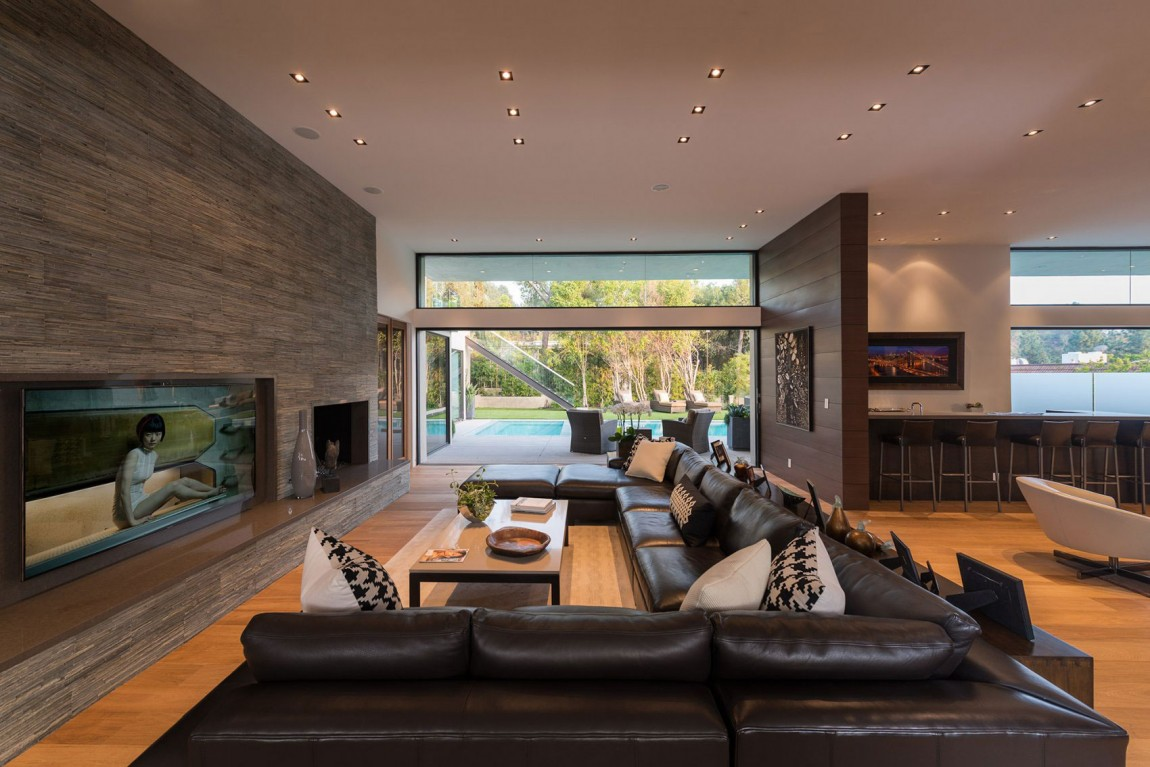 Hogares frescos casa de lujo en beverly hills for Open space home designs