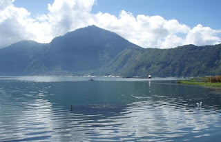 Lake Batur in Caldera on Mount Batur, Kintamani, Bangli Regency, Bali