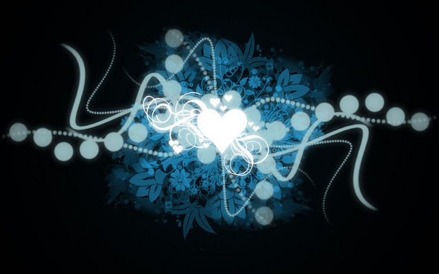 Free Download Love Wallpaper 2011 : Blue Black Heart