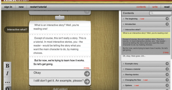 Here Is A Very Good Tool for Writing Interactive Stories in Class
