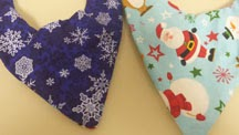 Handmade Reversible Dog Christmas Bandana by Bea Dazzled and Beyond