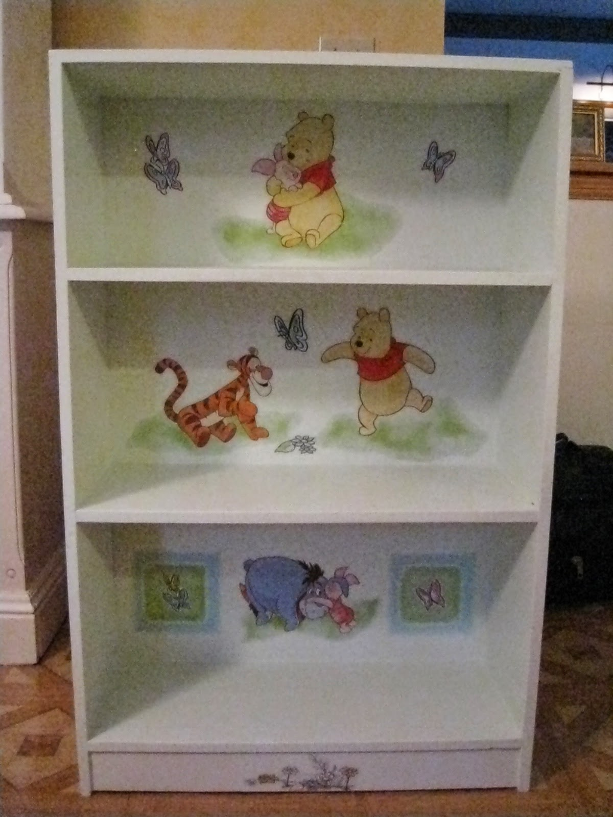 And Bookcase La Winnie The Pooh Sorry About Poor Photo Resolution Light In My Dining Room Makes Taking Pictures More Than A Little Challenging