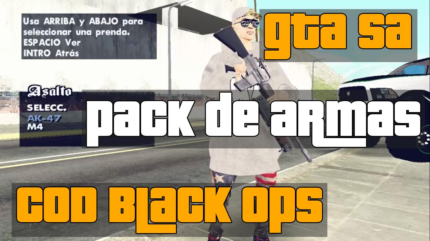 [GTA SA] Pack De Armas De COD Black Ops | BrosMods 2014