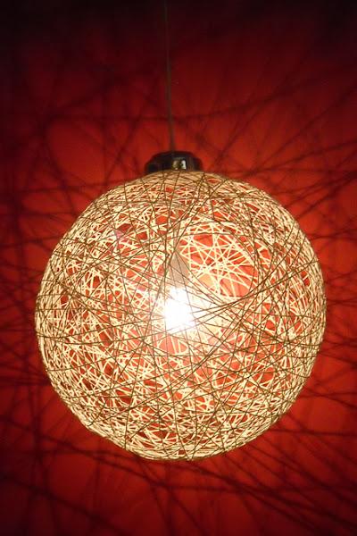 Lampara bola aprender manualidades es - Manualidades con lamparas ...