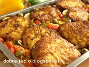 Zapekané rezne so zeleninou - recept