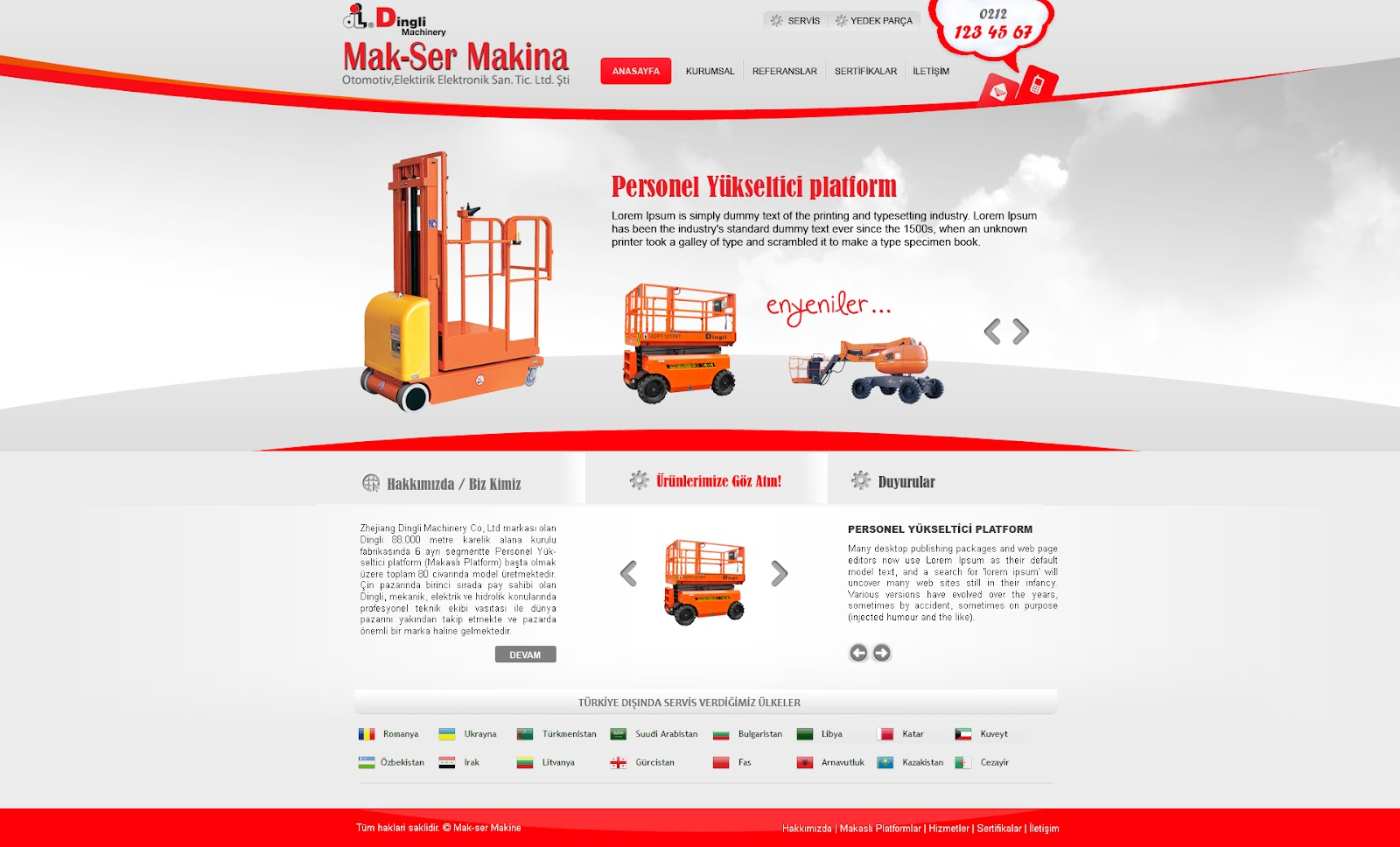 Makser Makina | Arayüz Tasarım