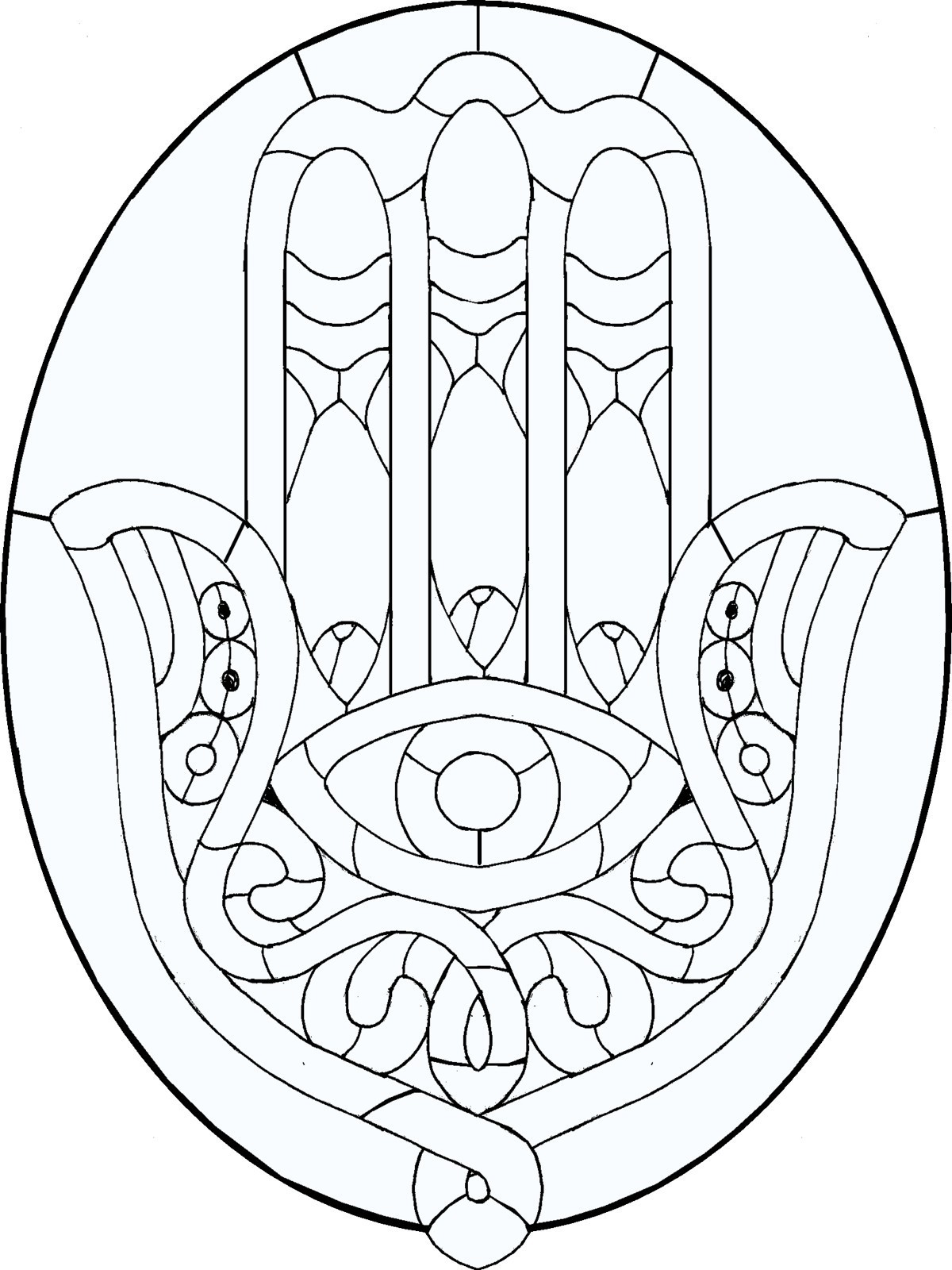 hamsa coloring pages - photo#17