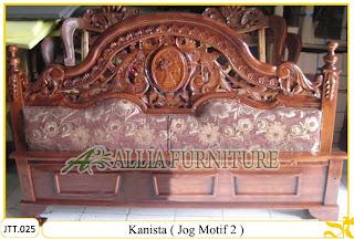 Tempat tidur ukiran kayu jati Kanista Jog Motif 2