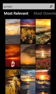 تطبيق مجانى لهواتف ويندوز فون يحتوى على مجموعة واسعة من الخلفيات المميزة Wallpaper-xap-2.2.0