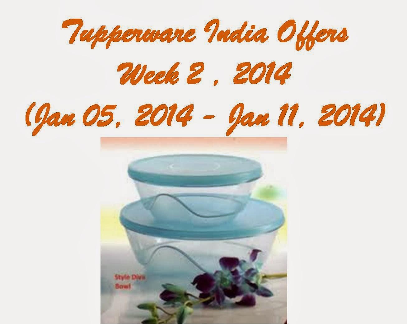 Tupperware India Offers - Week 2 , 2014 (Jan 05, 2014 - Jan 11, 2014)