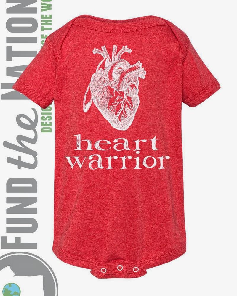 Heart Warrior Red Bodysuit/Onesie