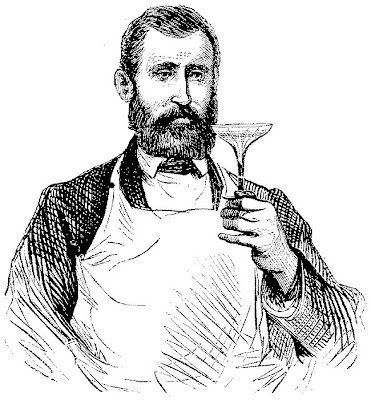 barbe, tablier, coupe de verre, cristal