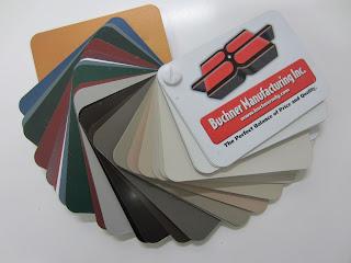 Eavestrough Colour Selection