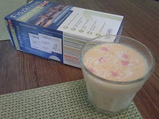 smoothie, koktail, wiórki kokosowe, owoce, fiszki, nauka angielskiego