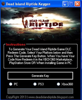 Dead Island Riptide Game Keygen and Crack Free Download
