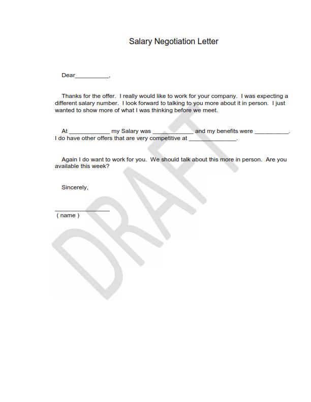 Negotiation Letter Format - Letter Format 2017
