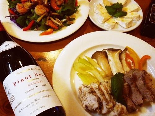 超イージー調理なのにデリシャスなワインのおつまみ☆ハーブが香るブレイズドポーク&チキンブレスト