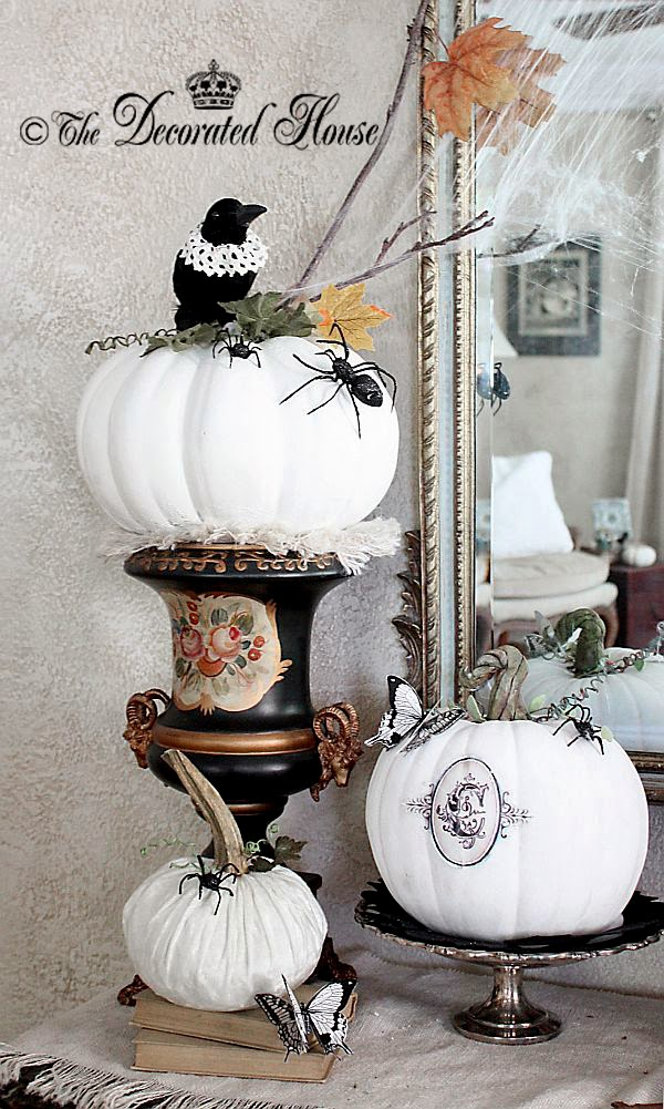 The Decorated House Halloween Decorating Black White