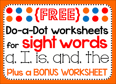 dot markers do-a-dot pages bingo preschool pre-k kindergarten homeschool tot school