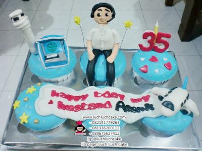 Cupcake Tema Pesawat Daerah Surabaya - Sidoarjo