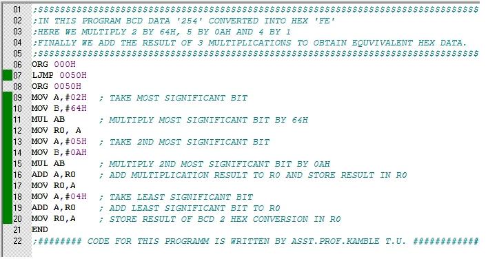Assembly Program Microcontroller 8051 Microcontroller 8051