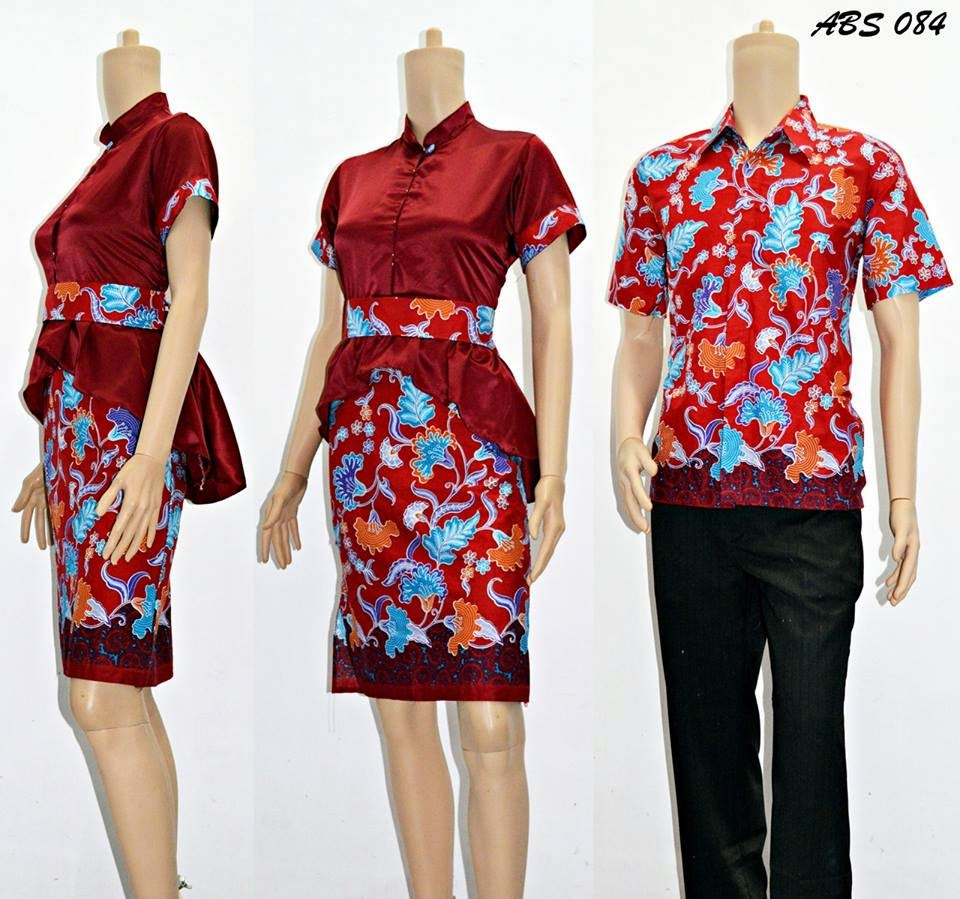 BAJU BATIK COUPLE DRESS