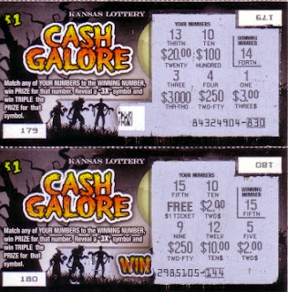 Kansas Halloween lottery tickets after