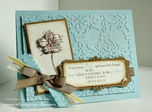 Stampin' Up! Faith in Nature Stamp Set - Uplifting Card