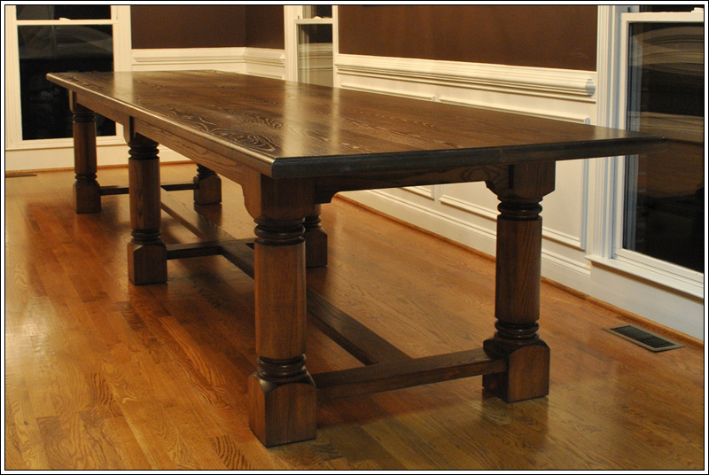 Turner custom furniture a very large custom dining table for Dining room tables handmade