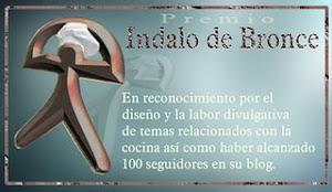 Premio Indalo de bronce,concedido por Trini Altea por mis 100 seguidores