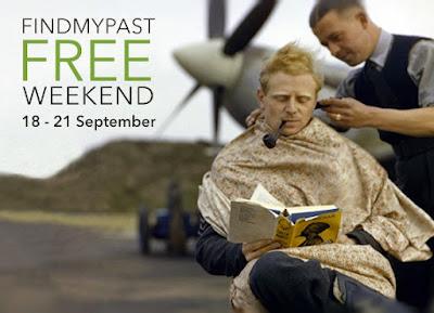 FindMyPast Free Access Weekend 18-21 September 2015