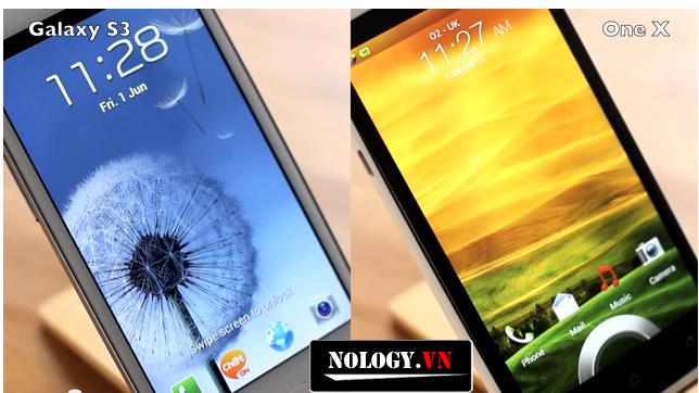 So sánh chi tiết  màn hình HTC ONE X và Galaxy S3 LTE