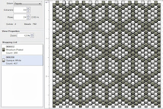 free peyote stitch beading pattern tumbling blocks