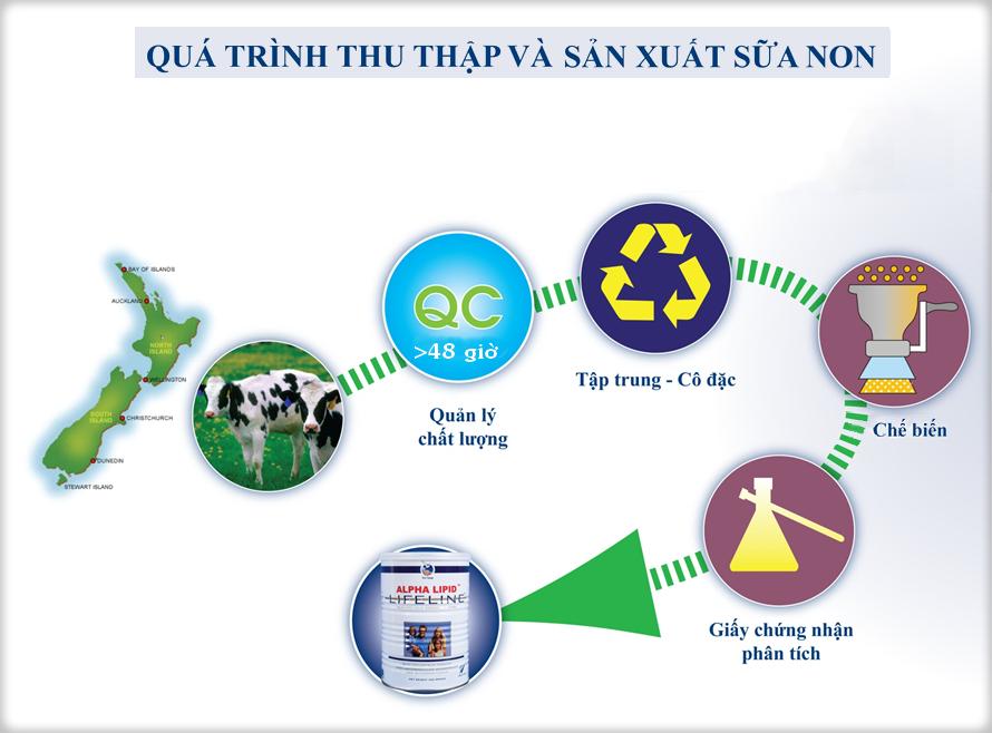 Tác dụng của các thành phần trong Sữa non Alpha Lipid LlfeLine