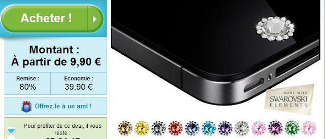 2 Bijoux pour smartphone made with Swarovski Elements à 9.90€ au lieu de 49.90€ bon plan bijoux pour smartphone