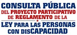 CONAPDIS -  Consulta pública - Participa entrando en el siguiente enlace...