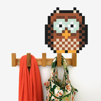Puxxle,vinilo,pared,pixel,puzzle,decoracion,decoration,cuadrados,square,Buho