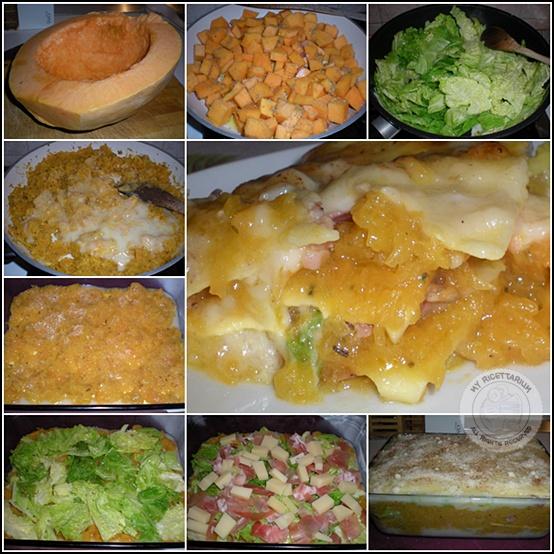 Lasagne con zucca, verza e speck