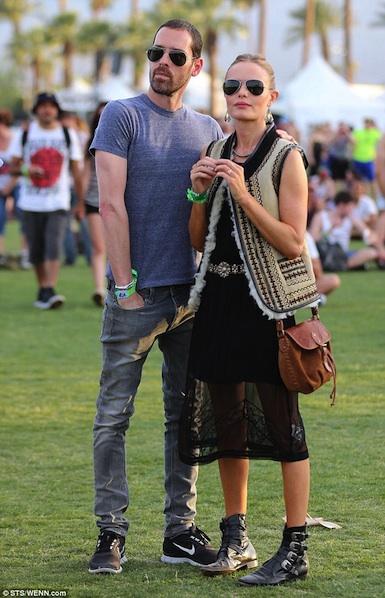 Coachella Street Style - Kate Bosworth in TOPSHOP & Michael Polish