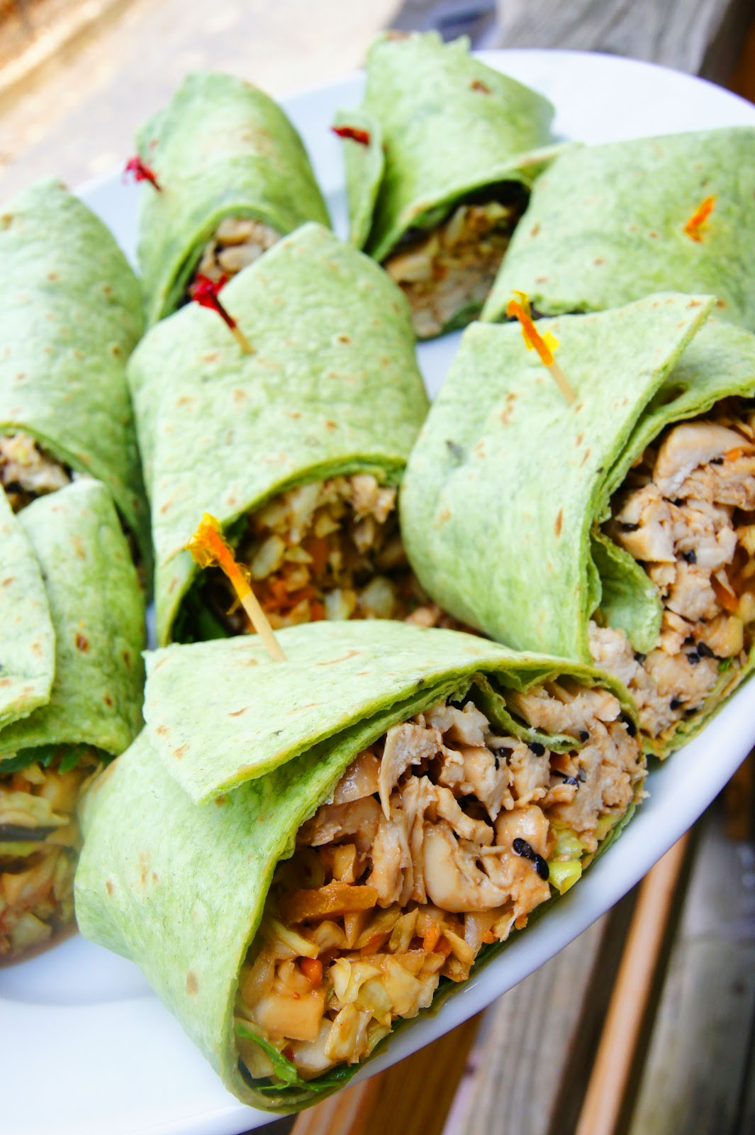 headtones: Thai Chicken Wraps