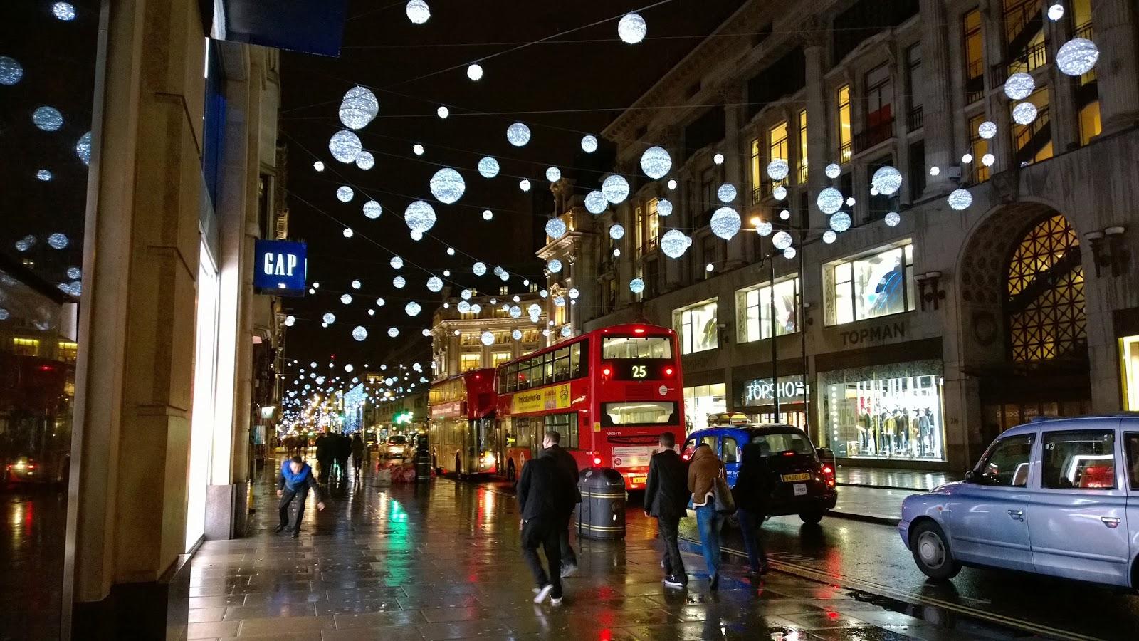 Bowlzee's Little Eye: Oxford Street, London Christmas lights 2013.